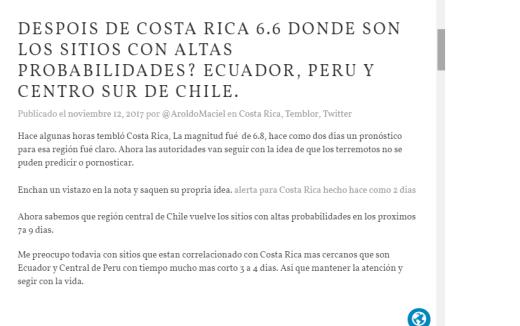 nota de pronostica Equador confirmada